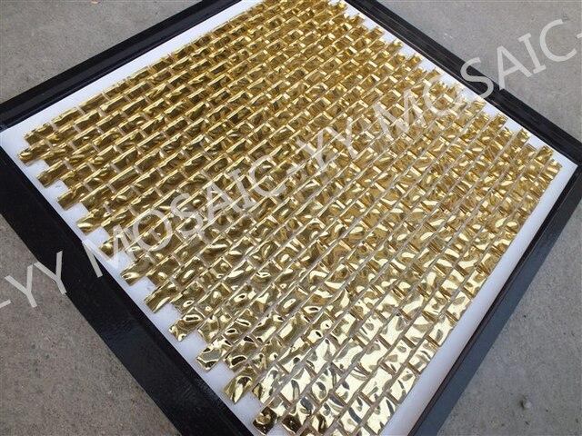 Luminoso vostro bagno nel lusso mosaici in oro dell arte