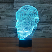 7 Colorful Gradients 3D Led One Eyed Giant Man Shape Night Lights Kids Gifts Baby Sleep