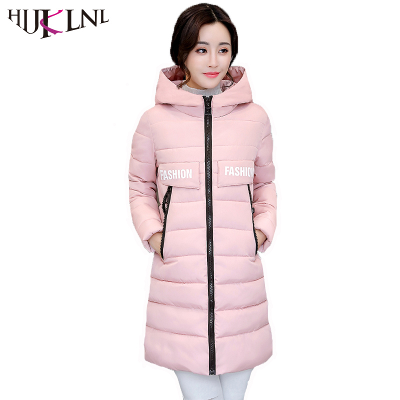 HIJKLNL Winter Jacket Women 2017 Warm Turtleneck Hooded Letter Printed Long Jackets Female Padded Parka Mujer Winter Coat NA408 hijklnl women casual letter printed hooded long jacket 2017 winter thick coats female loose overcoat cotton parka mujer na340