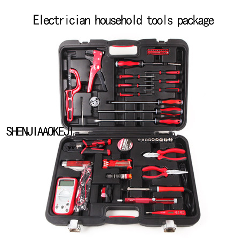 1pc Telecommunications tools set Toolbox Multifunction electronic electrician Household Property practical maintenance tool kit telecommunications