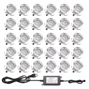 QACA Low voltage 0.6W LED Deck Light Outdoor Garden Patio Stairs Landscape Decor LED Lighting In-ground 30pcs/set B110-30