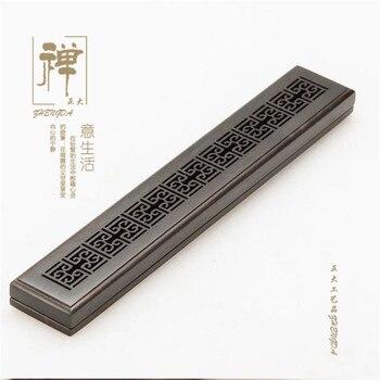 Zhengda thin ebony purple Tan lying hollow incensory pomander sandalwood furnace line wooden monolith burner