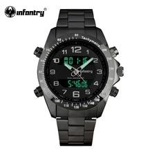 Мужские часы в Военном Стиле, цифровой светодиодный, s часы, лучший бренд, Роскошные, спортивные, армейские, черный, серебристый, браслет, цвет, Relogio Masculino