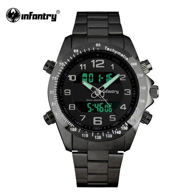 ceff4439bf5 INFANTARIA Relógio Militar Homens Exército Esporte Digital LED Mens  Relógios Top Marca de Luxo Relogio masculino
