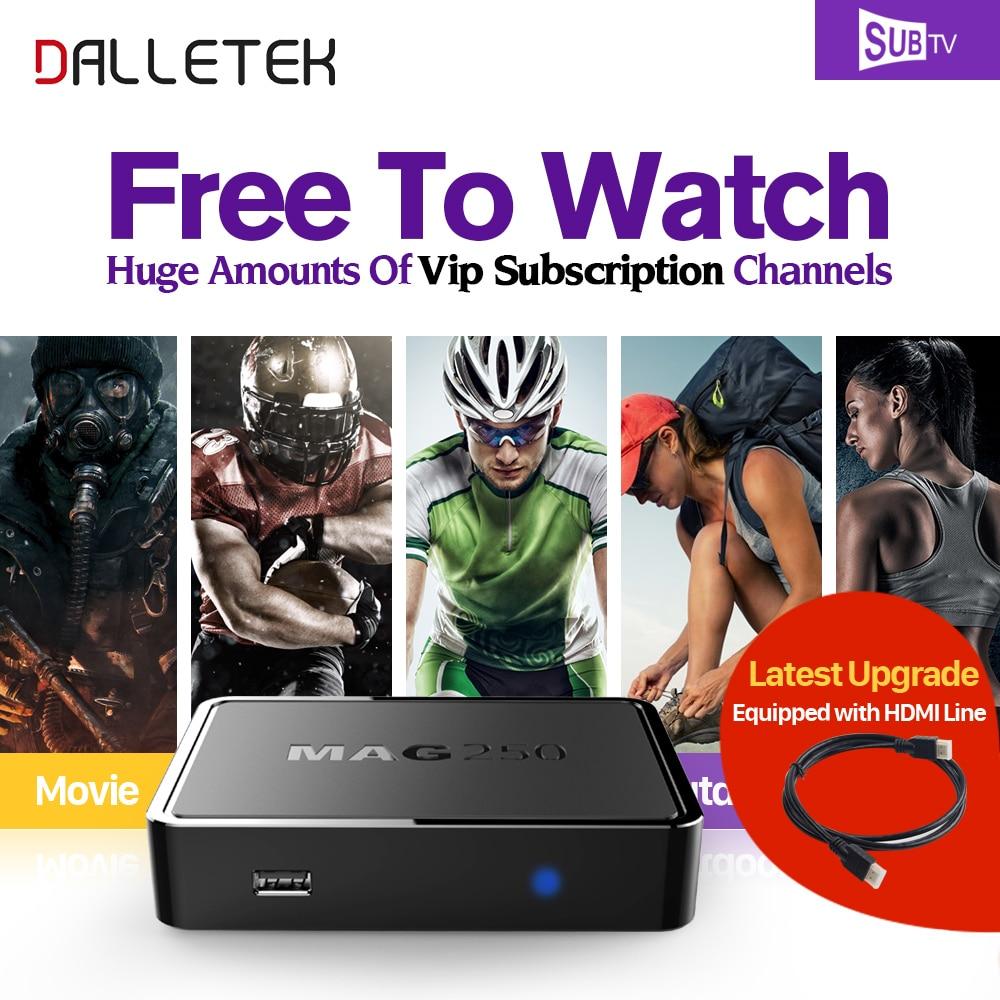 Dalletektv MAG 250 Smart Iptv HD Set Top Box IPTV Box Linux Arabic IPTV SUBTV 3500+Channels Europe French TV Receivers mag 200 в киеве