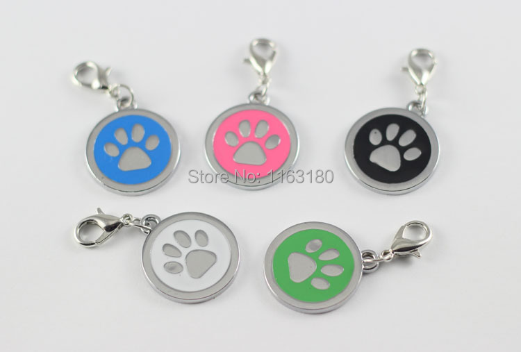 100 pcs lot Anti Lost Personal ENGRAVED DOG TAGS 50 Designs Personalized Enamel Pet Cat ID