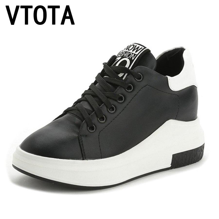 VTOTA Women Sneakers Sring Autumn Platform Shoes Woman Zapatillas Mujer Casual Plataforma High Heels Tenis Feminino Shoes F58