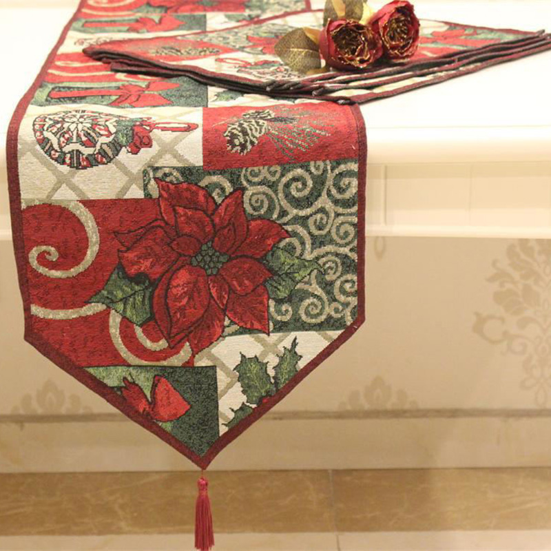 1 Pcs Table Runners New Christmas Flower Elegant Show For Guests Home Textile Red Runner Wedding Party Decoration In From Garden