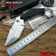 LCM66 tactical karambit scorpion claw knife outdoor camping jungle survival battle Fixed blade hunting knives self defense AUS-8