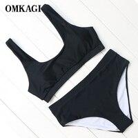 OMKAGI Brand Women Sports Style Comfortable Bikini Set High Quality Push Up Padded Bikini Women Swimsuits