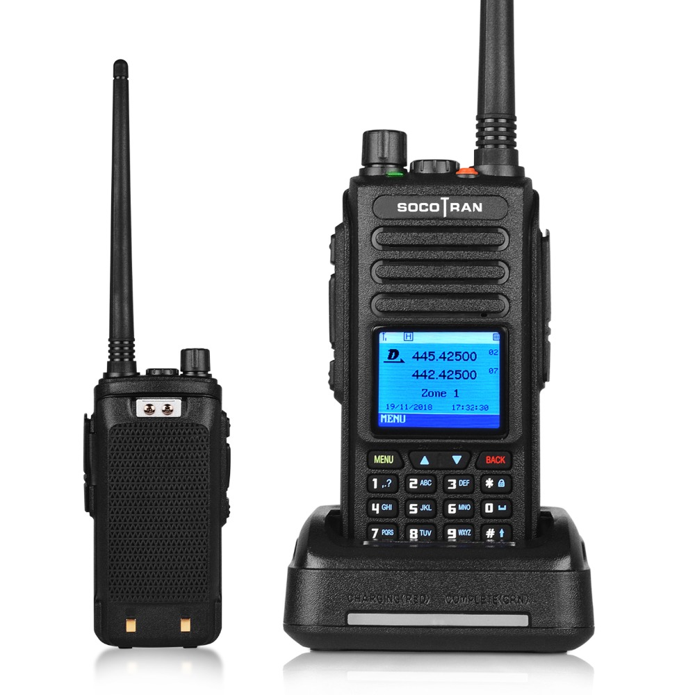 GPS walkie talkie dmr voice record vhf uhf two way radio dual band 136-174 & 400-470MHz digital DM-1702 ham radio with Color LCD