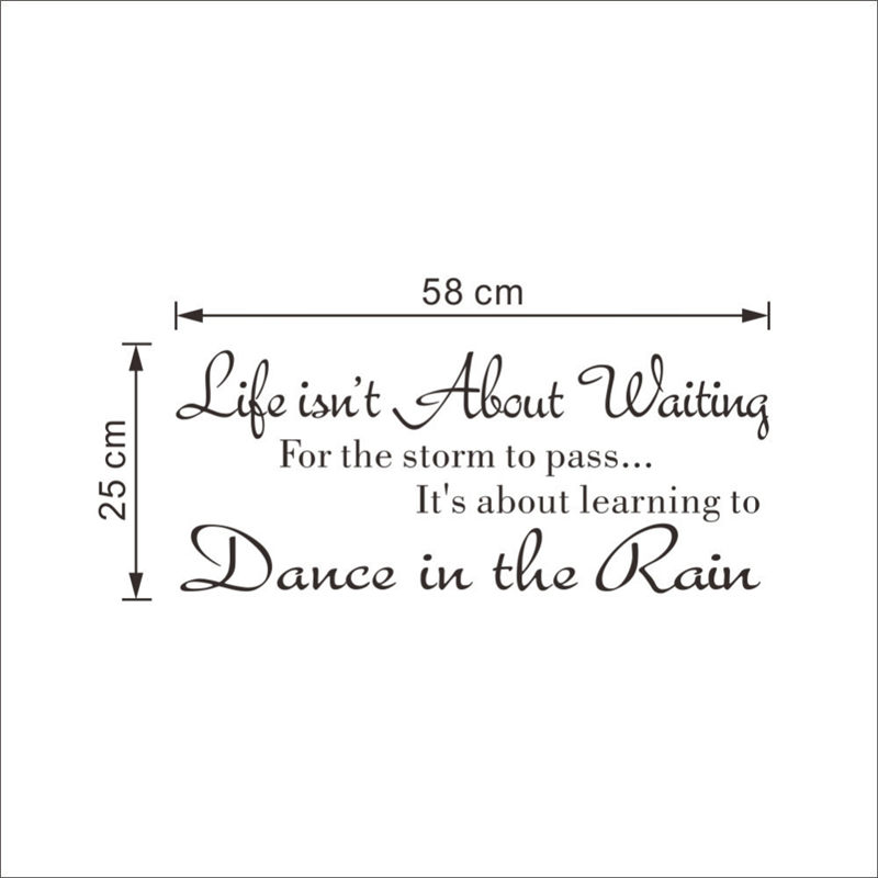 Life Isnu0027t About Waiting Wall Stickers Quote Dancing In Rain Wall Decal  Words In Wall Stickers From Home U0026 Garden On Aliexpress.com | Alibaba Group