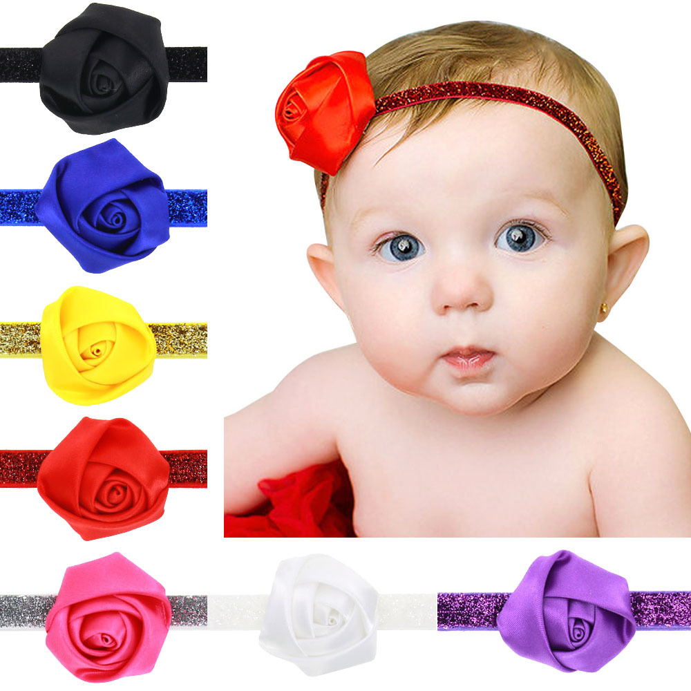 2016 Leather Rope Rose Baby Flower Crown Headbands Bohemian Hair Pita Bando Bunga Bayi Headband Accessories 7 Color Children Girls 50pcs Lot In From