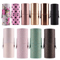 MAANGE Leather Makeup Brushes Holder case empty Storage Tube case for makeup brushes container Dispaly stand