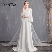 It's YiiYa Evening Dress 2019 Long Plus Size With Sleeves Women Party Dresses Elegant Lace Formal Night Vestido de novia G118