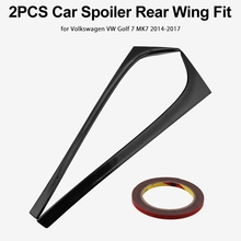 1 Pair Car Spoiler Tail Wing Fit For Volkswagen Golf 7 MK7 2014-2018 Auto Sticker Decoration