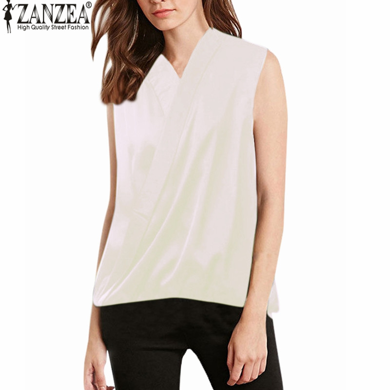 Online buy wholesale sleeveless wrap blouse from china for Wrap style t shirts