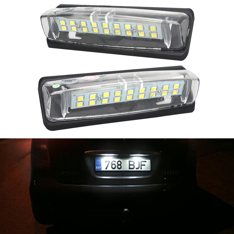 2x 18SMD Error Free LED Number License Plate Light For Mitsubishi Colt plus Grandis 03-Now hopstyling 2x error free 18smd for benz smart fortwo led license plate light car led number license plate lamp auto lighting