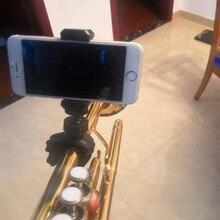 למעלה מכירת נייד מוסיקה מיקרופון מיקרופון Stand חכם טלפון מחזיק הר קלאמפ עבור מוט צינור אופניים כידון 9 23mm 14 28mm