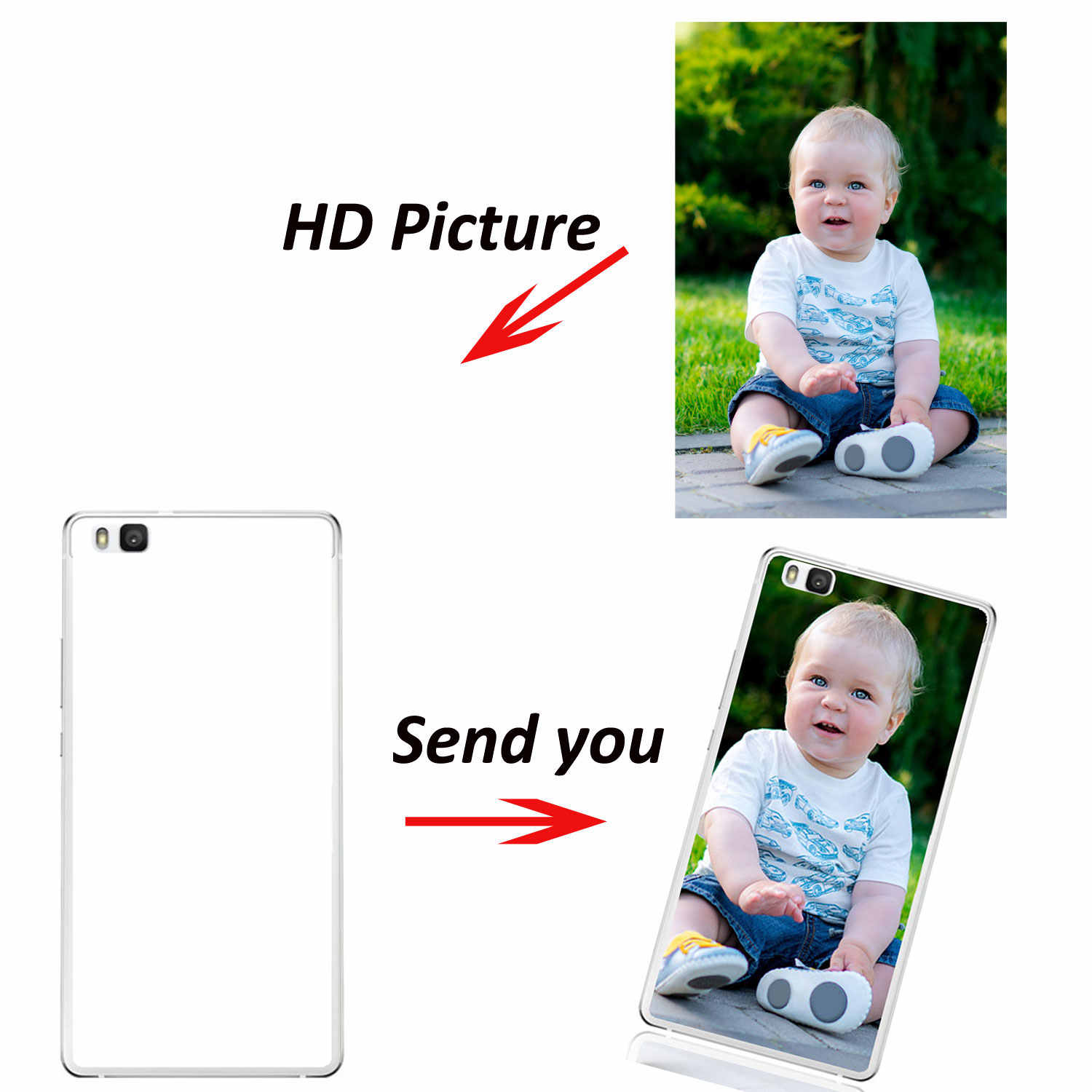 Customized Case for Huawei P30/Pro/Nova 4 5i/Mate 7/8/9 Pro/10Lite/2s plus/Y3 Y5 Y7 Y9 2017/2018 Photo DIY Print Case Soft Cover