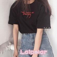 Fashion Blusas 2018 Summer Best Friends T Shirt Korean Ulzzang Harajuku Embroidery Short Sleeve T-shirts Women Casual Top Shirts