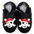Mocasines de cuero Del Bebé Niños Recién Nacidos Zapatos de Bebé Primer Caminante Zapatos de Bebé Negro Niñas Zapatilla Zapatos Infantiles Del Niño Niños Calzado