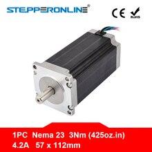 Nema 23 шаговый двигатель 57x113 мм 3Nm/425oz. В 4.2A 4-свинец Nema23 шаговый двигатель для 3D-принтеры/гравировка фрезерный станок с ЧПУ