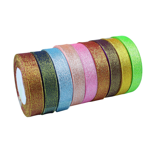 1PC Width 2cm 25 yard/roll  Ribbon Satin Ribbon Rolls Wedding Party  Decoration Candy Box Packaging Decor Supplies  9 Colors