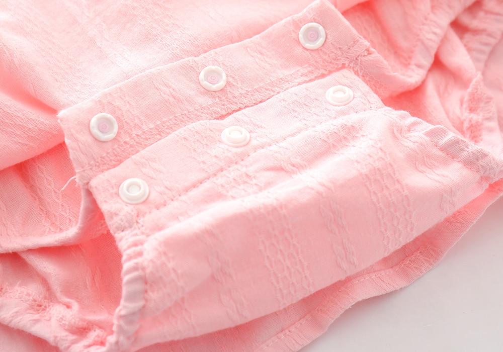 Ruffles BowKnot Zomer Katoen Mini Meisjes Feestjurk Verjaardag - Babykleding - Foto 6