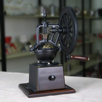 A1 ретро рука машина точильщика дома кофе ручной мельница, Кофемолка Руководство мельница чугунные колеса супер усилий lo94244