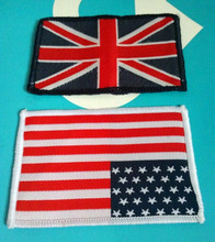 цена на Sew-on cheap price USA national flag patch and UK national flag patch,XERY0127Z