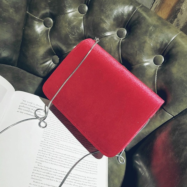 Fashion Women Evening Shoulder Bag Bridal Clutch Chain Velvet Silk Bottom Handbag Elegant Party Bags Wedding Lady Messenger Bag 3