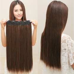 5 clips in hair extensions good quality brown black synthetic hair extension 1 piece cheap popular.jpg 250x250