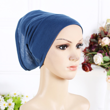 Designer Full Cover Inner Muslim Cotton Hijab Cap Islamic Head Wear Hat Underscarf 13 Colors Women Muslims Hat