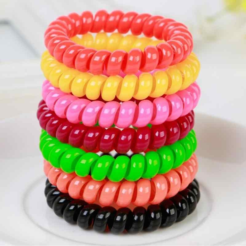 Warna-warni Rambut Piring Tools Telepon Elastisitas Karet Headwear Rambut Tali Donut Bun Maker Mantan Memutar Alat Gaya 1 Pcs