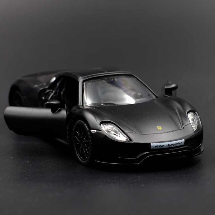 High Simulation Exquisite Diecasts & Toy Vehicles: RMZ city Car Styling 918 Spyder 1:36 Alloy Supercar Model Pull Back Cars