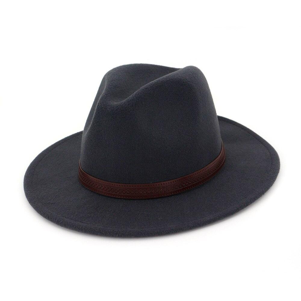 f069ca23952 Dropwow Zgllywr Fedoras Felt Hat Big Brim Hats For Women Men British ...