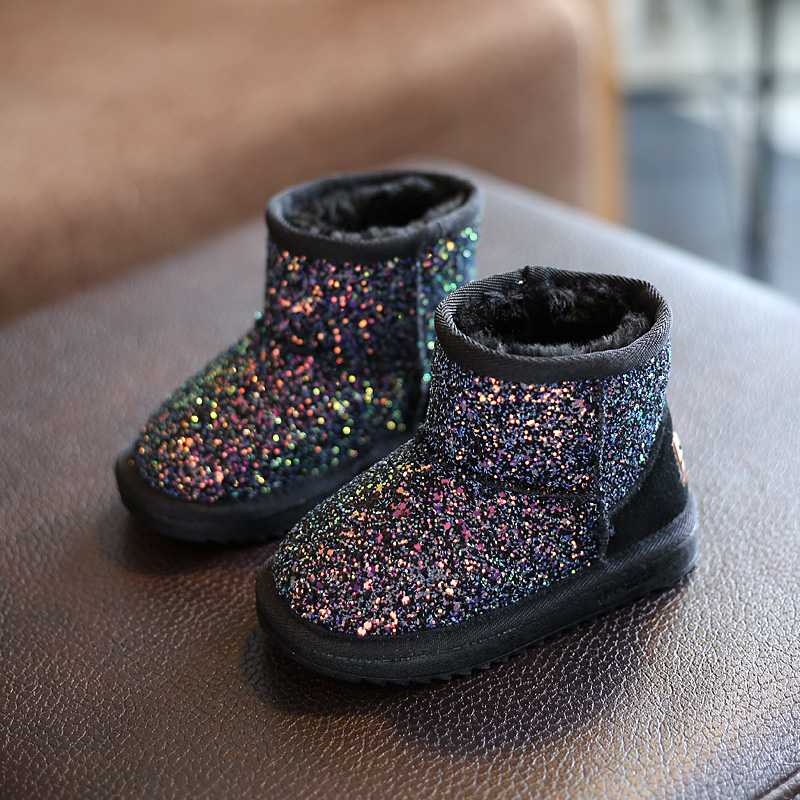 Freezing Cold Winter Children Snow Boots Sequined Girls Plush Snow Boots  Girls Casual Boots Cotton Padded Kids Martin Boots-in Boots from Mother    Kids on ... f88171f6dd5e