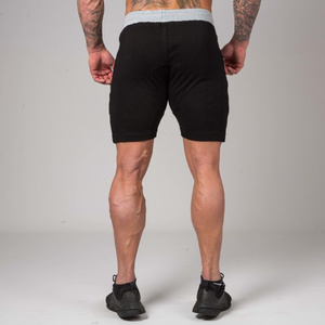 Image 3 - Men Gyms Fitness Bodybuilding Cotton Shorts Summer Style Casual Fashion Skinny Short Pants Man Jogger Workout Brand Sweatpants