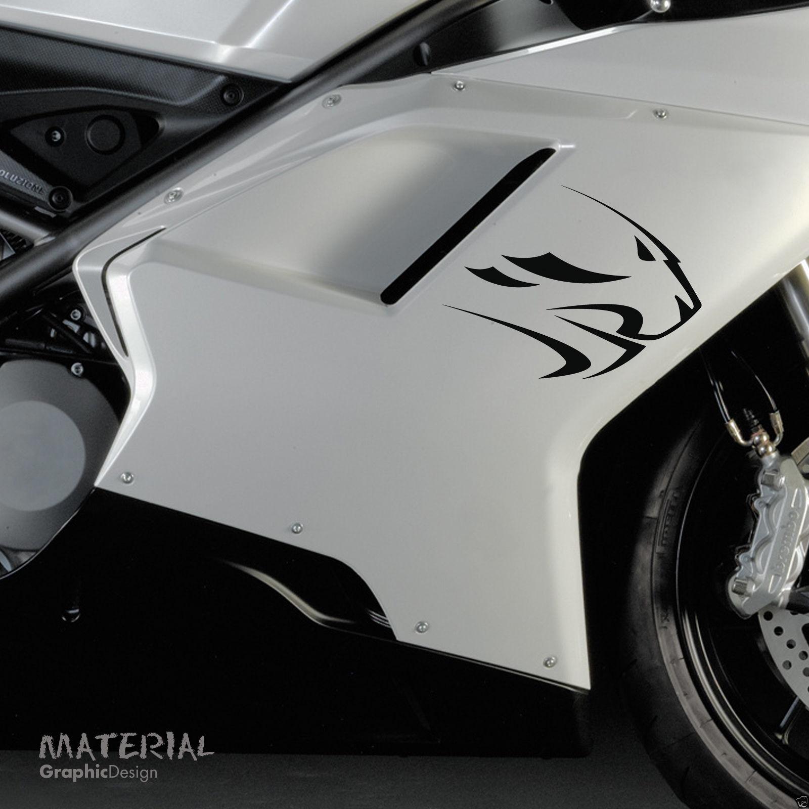 2pcs Aprilia Lion Head Sticker Decal Bike Tank Racing Motorbike RS50 RS125 20cm