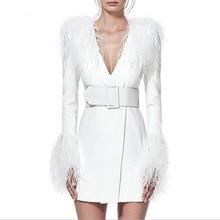 Deep V-neck Feathers Tassel Full 2019 Hot Sale Fashion Mini