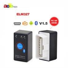 ELM327 V1.5 Bluetooth Мощность переключатель 16pin OBD сканер работает на Android Крутящий момент с чипом pic18f25k80 ELM 327 В 1.5