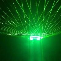 Новый дизайн светодиодные светящиеся зеленые лазерные очки для украшение на Хэллоуин, Рождество очки для защиты от лазера для сцены, лазерн
