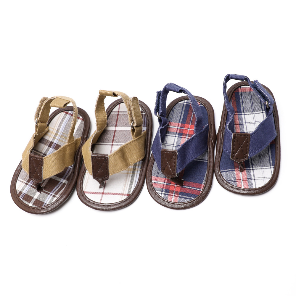 Cotton Fabric Sandals Baby Boy Infant Walking Baby Shoes Anti Skid Flat Sandals For Babies Soft Sole Sandalia  Bebek Sandalet