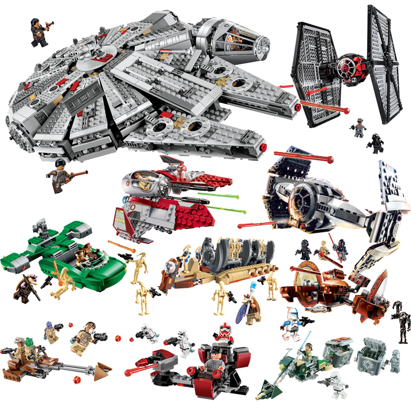 Compatible With Legoe Star Wars Building Blocks Bricks Toys Space Starwars Action Figures Trooper Fighter Toys 2018 New Gitfs new 1685pcs lepin 05036 1685pcs star series tie building fighter educational blocks bricks toys compatible with 75095 wars