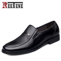 REETENE Plus Size 38 48 Men Shoes 2017 New Leather Men Dress Shoes Evening Party Wedding
