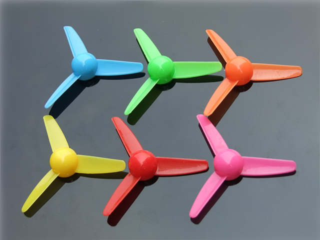 US $0 47 |1pc K398 Plastic Three blade Propeller 2mm Hole DIY Model  Windmill 6 Color DIY Airplane Parts Free Shipping Russia-in DC Motor from  Home