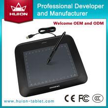 Nueva Huion P608N gráfica Digital tabletas animación de la tableta tableros pintura diseñador dibujo Panel de firma negro escritura a mano almohadillas
