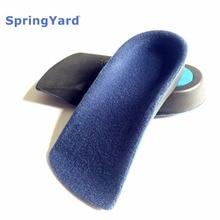 ФОТО springyard eva flat foot orthotics arch support half shoe pad orthopedic insoles foot care for men women