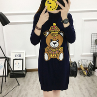 In The Spring Of 2017 The New Cute Teddy Bear Long Sweater In Europe And